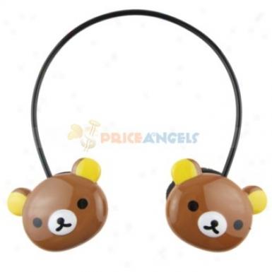 Rilakkuma Style Wireless Headset Headphone Mp3 Player With Tf Slog(brown)