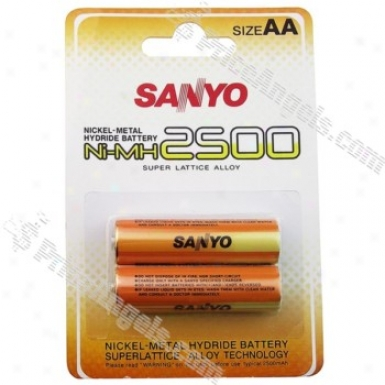 Sanyo Aa 2500mab Ni-mh Battery(2-pack)