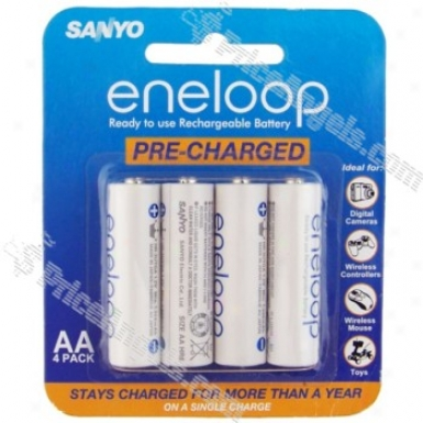 Sanyo Eneloop Aa 1.2v 2000mah Ni-mh Rechargeable Battery(4-pack)