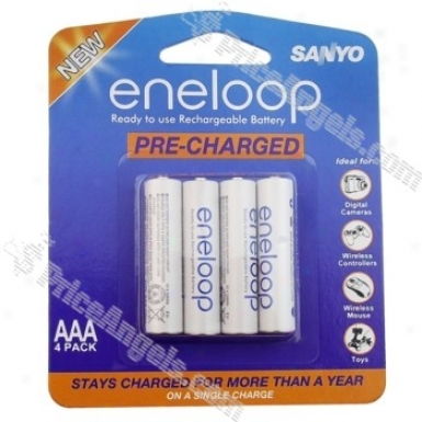 Sanyo Eneloop Aaa 1.2v 750mah Ni-mh Rechsrgeable Battery(4-pack)