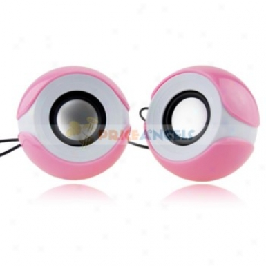 Sast Mini Multimedia Desktop Stereo Speaker With 3.5mm Jack For Computer(pink)