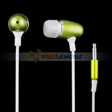 Simple Qinet Q-405a 3.5mm Audio Jack Stereo In-ear Earphone Headphone Earpiece For Mp3 Mp4 Cd Player(yellow)