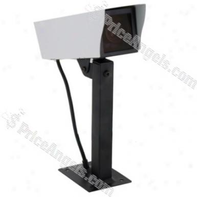 Simulation Outdoor Gun Design Security Camera(white)