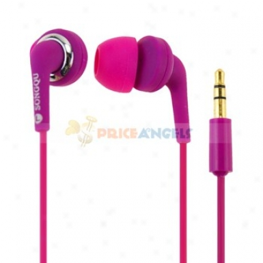 Songqu Sq-22mp Super Bass 3.5mm Jack Stereo Headset Earphone Earpiece During Cell Phone/mp3/mp4(purple)