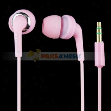 Songqu Sq-23mp 3.5mmm Jack Stereo Hands Free In-ear Earph0nes Headset For Pc/cell Phone(pink)