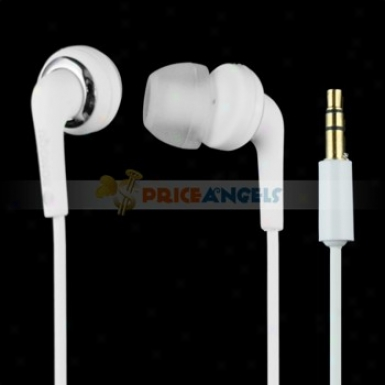 Songqu Sq-24a 3.5mm Jack Stereo Hands Free In-ear Earphones Headset For Pc/cell Phone(white)