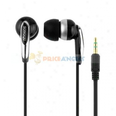 Songqu Sq-30mp 3.5mm Jack Stereo Hands Free In-ead Earphones Heaadset For Mp3 Mp4 Pc(black)