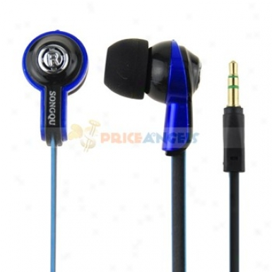 Songqu Sq-56mp 3.5mm Jack Stereo Hands Free In-ear Earphones Headset For Pc/cell Phone(blue)