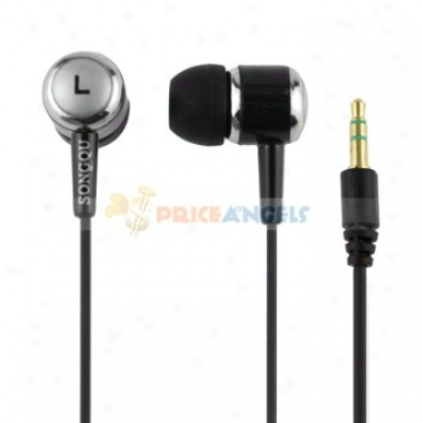Songqu Sq-60mp 3.5mm Jack Stereo Hands Free In-ear Esrphones Headset For Pc/cell Phone(black)