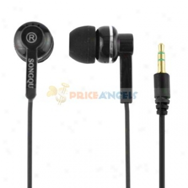 Songqu Sq-62mp 3.5mm Jack Stereo Hands Generous In-ear Earphones Headset For Pc/cell Phone(black)