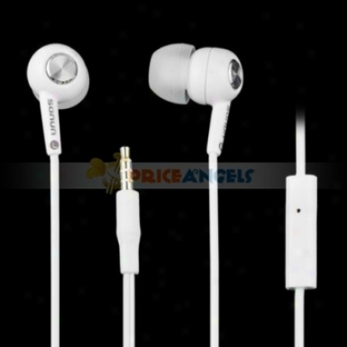 Sonun Sn-009p Stereo Super Bass Earphone Headphone With Microphone(white)