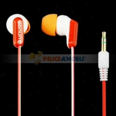 SonunS n-334mp In-ear Rich Sound Stereo Earphone Headphone(orange)