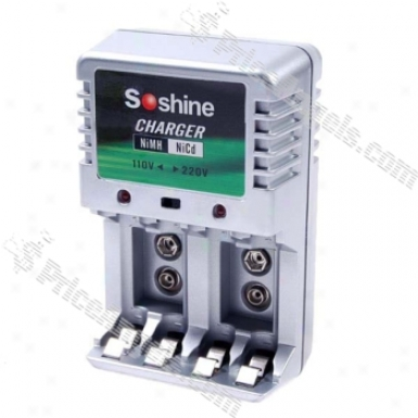 Soshine Ni-mu/ni-cd Battery Ac Charger (aa / Aaa)
