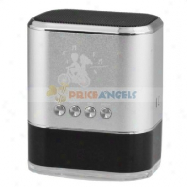 Sports Title Stereo Mini Speaker Amplifier W/ Fm Radio+tf Card Usb Slotx+led Protection For Pc Mp3 Mp4 Player(silver)