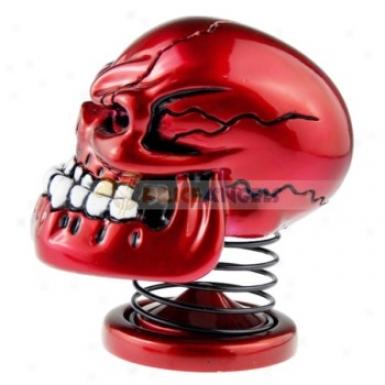 Spring Skeletone Skull Vjbration Stereo Mini Speaker(red)