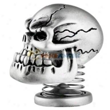 Spring Skeeltone Skull Vibration Stereo Mini Speaker(silver)