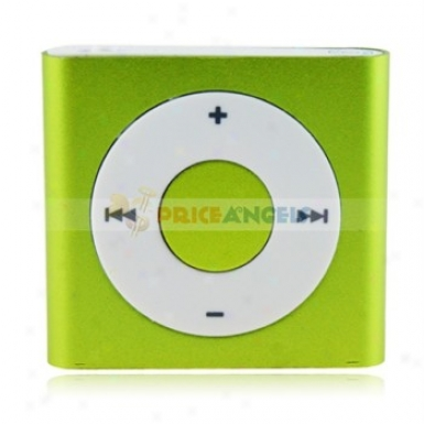 Square Shaped Screen-free Mini Digital Mp3 Player Through  Tf Slot Clp(green)