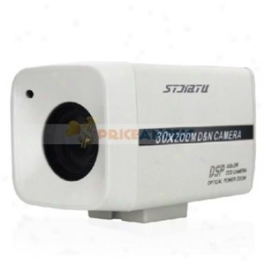 Stjiatu T648e/c 1/4 Sony Super Had Ccd 480 Tv Line Zoom Lens Ir Cctv Moniter Camera