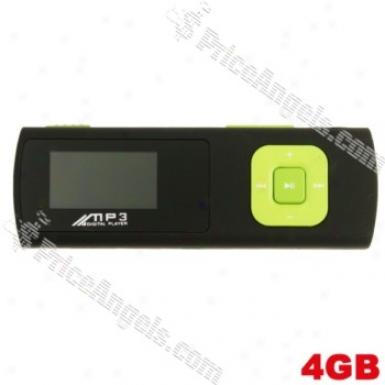 Stylish 0.8-inch Tft Lcd Mini Usb Digital Mp3 Player With Micro Sd/tf Card Slot(green)