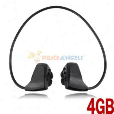 Stylish Free Style 4gb Sports Headset Handsfree In-ear Earphones Mp3 Player(black)