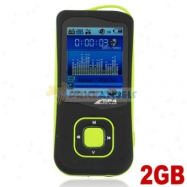 Stylish Light Weight 2gb Mp4 Media Poayer With Tf Card Slot(green)
