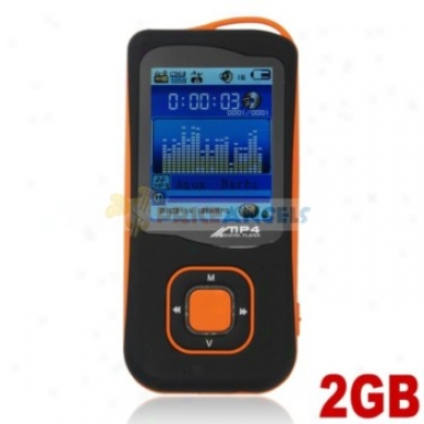 Stylish Light Weight 2gb Mp4 Media Player With Tf Card Slot(orange)