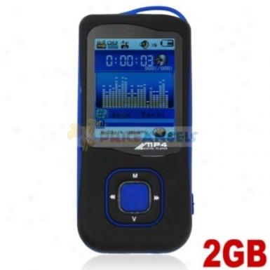 Stylish Light Weight 2gb Mp4 Media Player Upon Tf Card(blue)