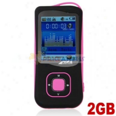 Stylish Light Weight 2gb Mp4 Media Player By the side of Tf Card(pink)
