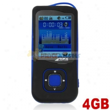 Stylish Light Weight 4gb Mp4 Media Actor With Tf Card Slot(blue)