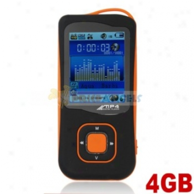 Stylish Light Weight 4gb Mp4 Media Player With Tf Card Slot(orage)