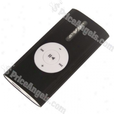 Stylish Screen-free Clip Mp3 Player With Speaker(tf Card Slot/6lack)