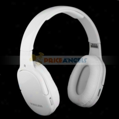 Stylish Sports Wireless Headset Mp3 Player With Fm Tf Slot(white)