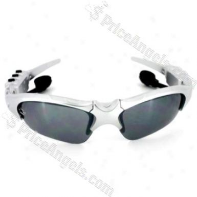Stylish Usb Rechargeable Sunglasses Mp3 Player With Built-in 2gb Memory (silver)