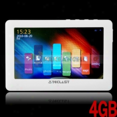 Teclast C430ve 4gb 4.3-inch Led Screen Hd Mp5 Media Player(white)