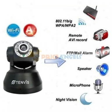 Tenvis Jpt3815w Mini 1/4 Cmos Ir Indoor Security Ip Network Camera(black)