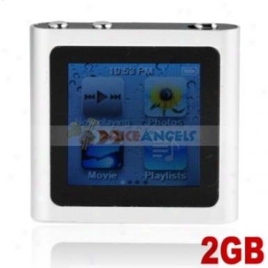 The Sixth Generation 1.5-inch Touch Screen 2gb Mp4 With Clock Function(silver)