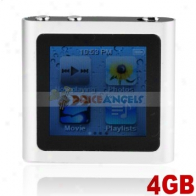 The Sixth Generation 1.5-inch Touch Screen 4gb Mp4 With Cllock Function(silver)