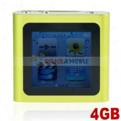 The Sixth Generation 1.5-inch Touch Screen 4gb Mp4 With Clock Funcgion(green)