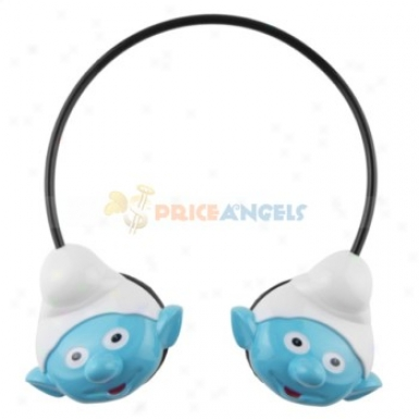 The Smurf Style Wireless Headset Headphone Mp3 Player With Tf Slot(blue)