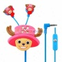 Creative Cartoon Chopper Style Crywtal 3.5mm In -ear Earphone With Microphone/clil