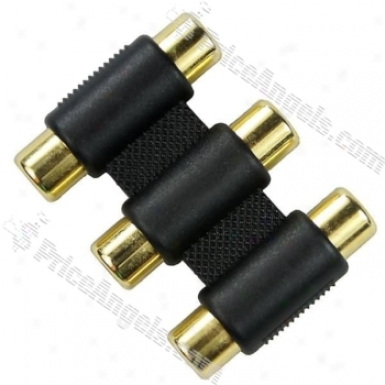 Triple Composite Av Cable Coupler Extension Connector