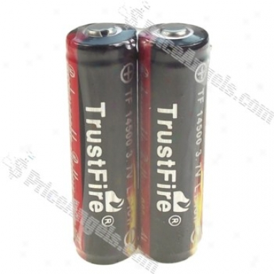 Trustfire Protected 14500 900mah 3.7v Rechargeable Li-ion Batteries(2-pack/colo Assorted)