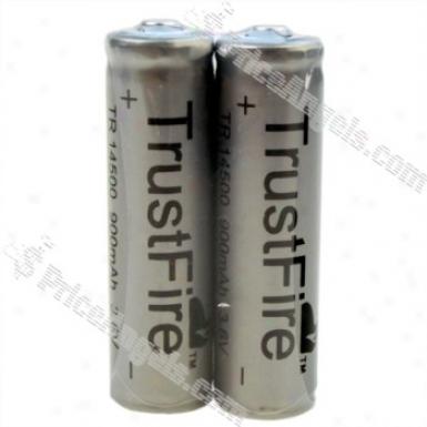 Trustfire Tr 14500 3.6v 900mah RechargeableL ithium Battery (2-packk)