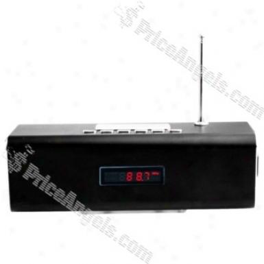 Tt2 Box Style Red Led Digital Display Rechargeable Mp3 Speaker Wiyh Fm/tf Slot-black