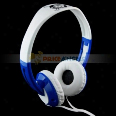 Tymed Tm6 Skull Head Pattern Adjustable Stereo 3.5mm Headset Headhpone Earphone Earpiece For Mp3 Mp4 Cd Player(blue)