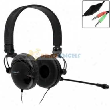 Tymed Tmh20 Stereo Adjustable Headphone Headset Earphones With Microphone For Pc Computer Laptop(black)