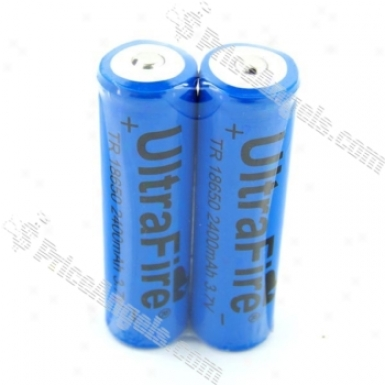 Uf Ultrafire Tr 18650 2400mah 3.7v Batteries (2-pack)
