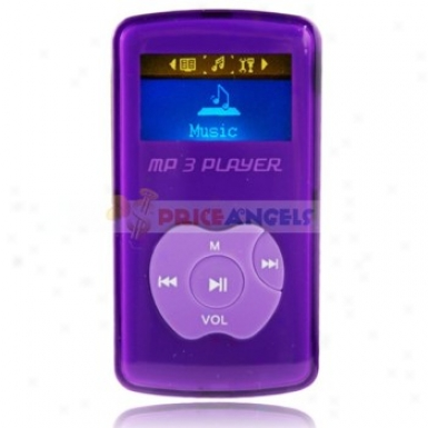 Uggu G-50 2gb 1.1-inch Screen Stereo Mp3 Player With Speaker(purple)