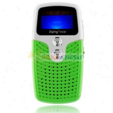 Uggu G28 2gb 1.1-inch Screen Stereo Mp3 Playdr With Speaker(green)