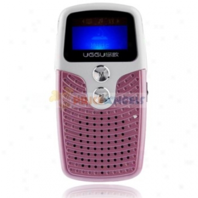 Uggu G82 2gb 1.1-inch Screen Stereo Mp3 Player With Speaker(pink)